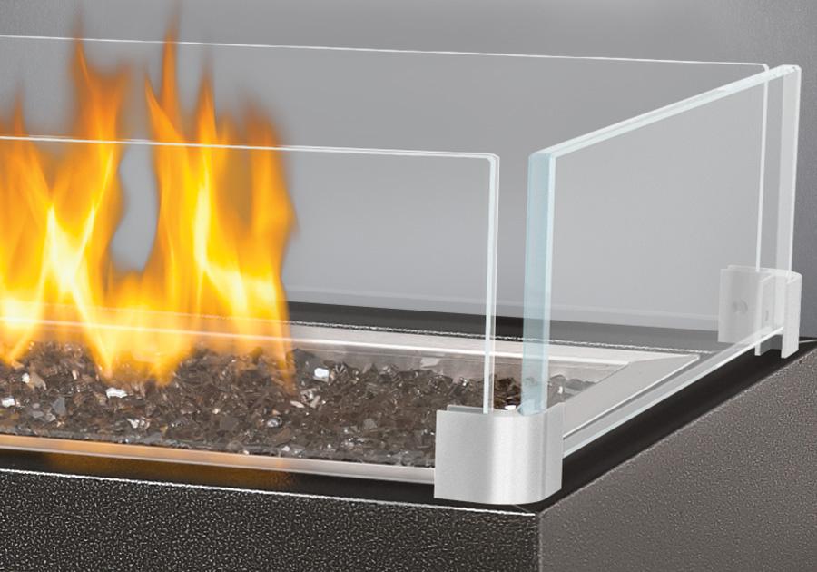 Déflecteur en verre (optionnel)