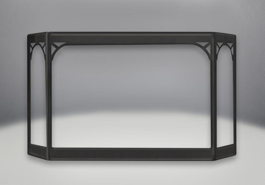 Porte en fini peint noir métallique