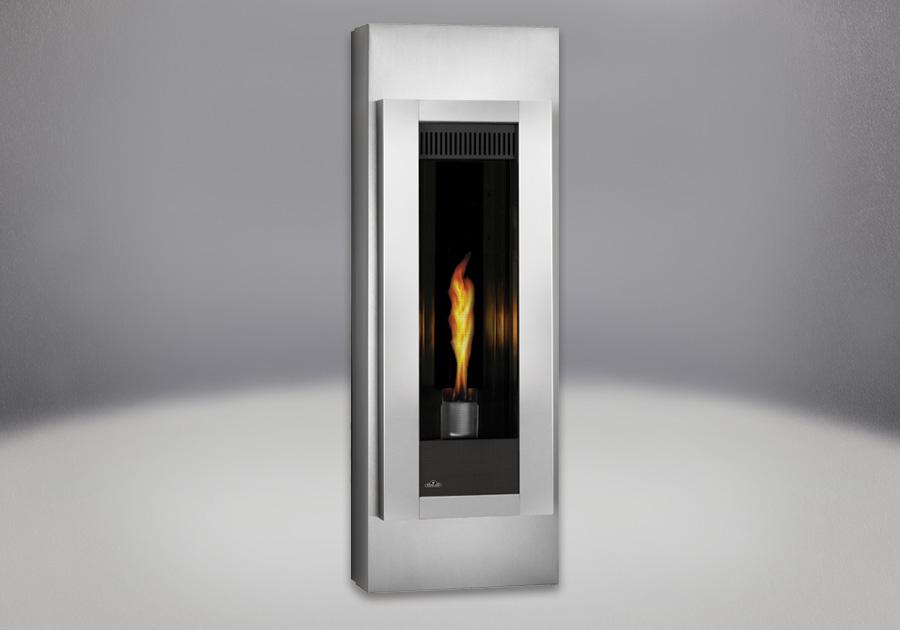 Panneaux réflecteurs radiants en porcelaine MIRO-FLAMME<sup>MD</sup>, cabinets réglables en fini acier inoxydable brossé, façade en fini acier inoxydable brossé