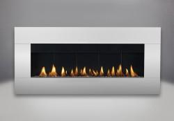 Contour rectangulaire en acier inoxydable avec brûleur au gaz naturel