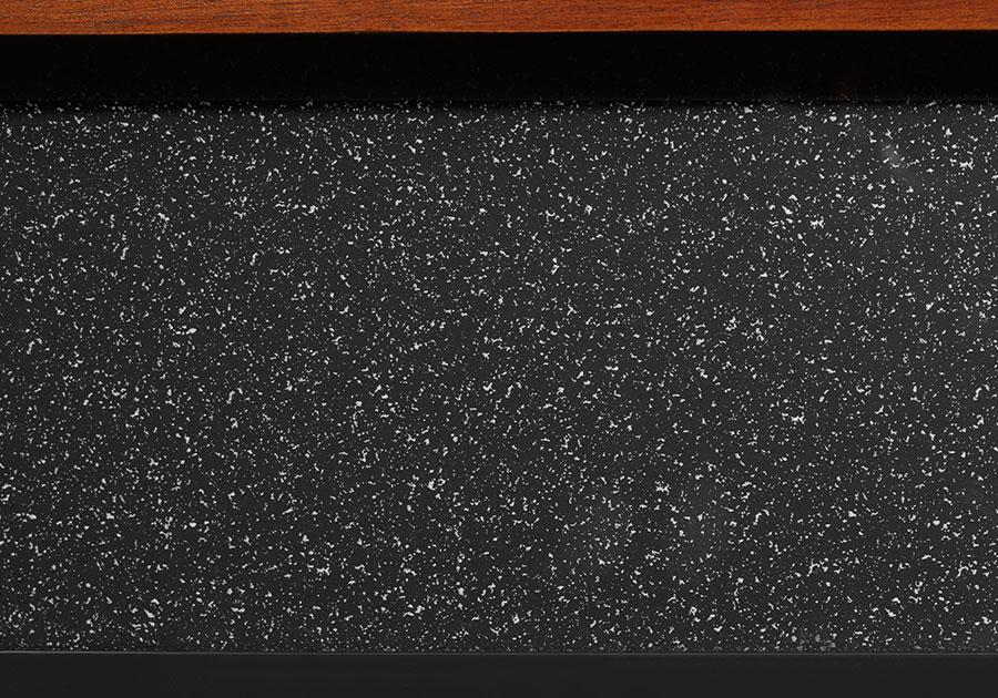Panneau de remplissage en fini granite noir