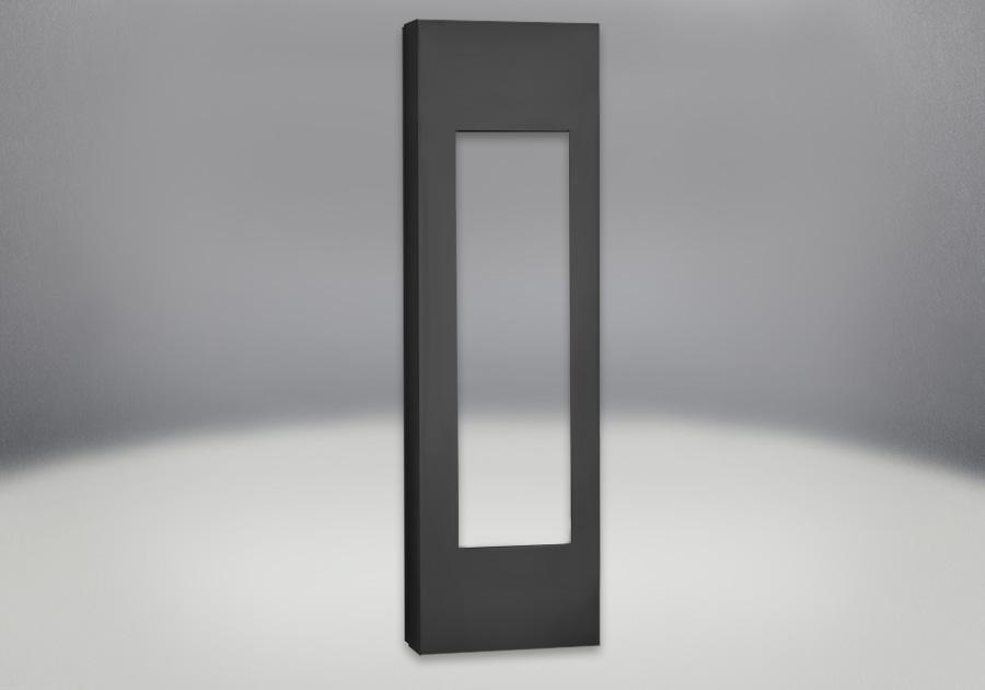 Cabinets réglables en fini peint noir métallique