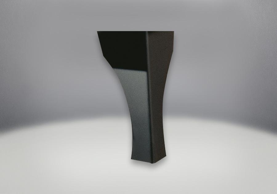 Pattes en acier traditionnelles au fini noir métallique