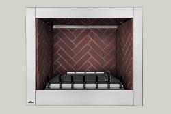 Panneaux décoratifs simili-briques rouge rustique optionnels