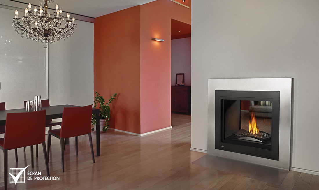 Napoleon BHD4 fireplace with stainless trim
